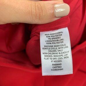 Halogen Skirts - Halogen ruffle detail pencil skirt in red